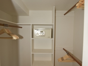 Lower floor walk in closet